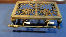 ANTIQUE 2 Burner CAST IRON IXL No 443 CAMP mobil Gas STOVE Porcelain Knobs
