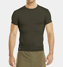 New Under Armour Tactical HeatGear Compression T-Shirt OD Green Small 1216007