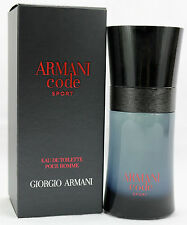 ARMANI Code Sport Eau de Toilette 50ml 1.7 oz NEW & SEALED UK 100% Genuine