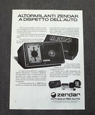 G329 - Advertising Pubblicità - 1981 - ZENDAR , AUTOPARLANTI BX-50/2 AUTOMOTIVE