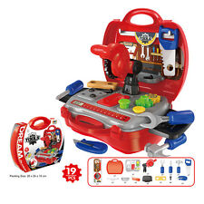 Kids Plastic Repair Tools Kit Pretend Tough Work Pretend Role Play Red Suitcase