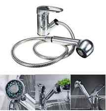 New Single Lever Kitchen Sink Taps Mixer Faucet Chrome Pull Out Head Spray Spout