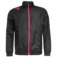 Adidas Performance Predator Mens Woven Polyester Black Jacket D85406 U60