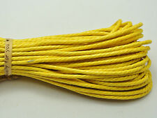 60 Meters Yellow Twisted Waxed Cotton Cord String Thread Line 2mm