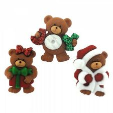 Dress it up buttons **Beary Merry Christmas** great  for cards and crafts