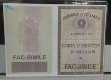 CUSTODIA CARTA D´IDENTITÀ SEE-THROUGH ITALIAN ID CARD HOLDER NEW PAYPAL PAYMENT