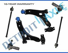 NEW 6pc Front Suspension Control Arm and Tie Rod Kit for 2000 - 2004 Ford Focus