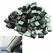 30Pcs Wire Clip Black Car Tie Rectangle Cable Holder Mount Clamp self adhesive