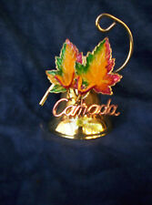 """Canada Hand Bell 3 3/4"""" with Maple Leafs"""