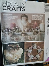 McCall's 6819 Angel Heart Wreath Holiday Christmas Sewing Craft Pattern
