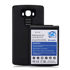 New 8200mAh Extended Battery with Black Case Cover for LG G4 BL-51YF