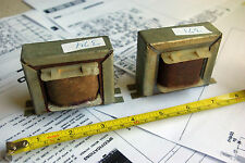 PAIR  SPEAKER TRANSFORMERS Valve   EL84 8 Ohm DIY AMP VINTAGE