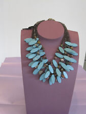 Exquisite Necklace of TURQUOISE with AGATE & SMOKEY QUARTZ