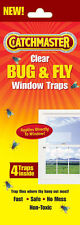 NEW Catchmaster 904 Clear Bug & Fly Window Traps (4/PACK) FREE SHIPPING