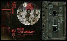 Slayer Live Undead USA Cassette Tape Enigma / Metal Blade 72015-4