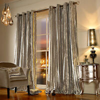 Iliana Kylie Minogue Curtains Eyelet RingTop Lined Curtain Velvet Velour Praline