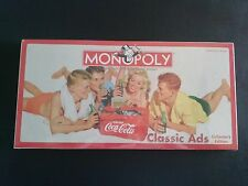 RETIRED MONOPOLY 2005 COCA COLA CLASSIC ADS COLLECTOR'S ED NEW FACTORY SEALED