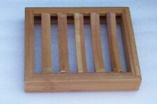KINGSLEY - Bamboo Rectangular Draining Slotted WOOD SOAP DISH 4 Glycerin Soap