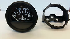 """Faria Marine Out Of Box, 2"""" Temp Gauge  GP9118C  Euro Black Outboard 10-16 Volts"""
