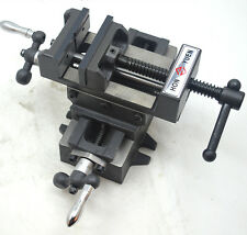 """4"""" Cross Drill Press Bench Vise X-Y Clamp 2 Way Milling Fixture Stroke 110*130mm"""