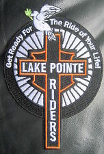 LAKE POINTE RIDERS  EMBROIDERED SEW ON PATCH MOTORCYCLE ROCKWALL TEXAS SPONSOR