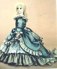 "17""ANTIQUE FRENCH FASHION GAULTIER LADY DOLL CLOTH BODY@1876 GOWN/DRESS PATTERN"