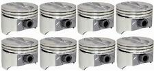 "GM SBC CHEVY PISTONS P1534 FLAT TOP 4.00"" BORE SET 8 W/ PINS STD 020 030 040 060"