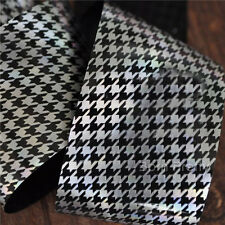 1Pc Houndstooth Holographic Nail Art Foil Sticker Paper DIY Nail Decoration