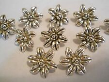 10 SILVER PLATED FLOWER DESIGNER TIBETAN VICTORIAN 2 HOLE SLIDER SPACER BEAD BAR