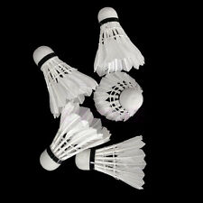 12X White Goose Feather Training Shuttlecocks Birdies Badminton Ball Game Sports