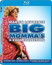 BIG MOMMA'S HOUSE 3 FILM COLLECTION BLU RAY 3 DISC MARTIN LAWRENCE REGION FREE