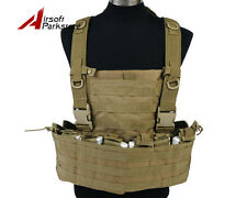 Tactical Military Airsoft Molle Vest w/ Hydration Pocket Magazine Pouch Tan