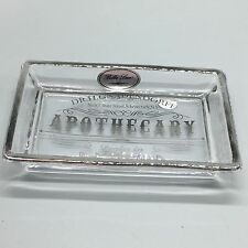 BELLA LUX Parisian Dr H Gnaderdoff Apothecary Glass Soap Dish Bathroom Silver