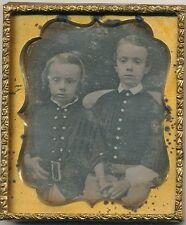 1/6 Plate Daguerreotype of Two Young Brothers England ? C1845
