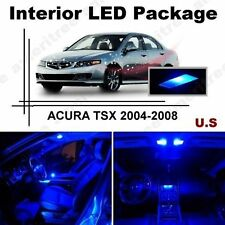Blue LED Lights Interior Package Kit for Acura tsx 2004-2008 ( 8 Pieces )