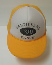 Santillana Ranch Vintage Yellow Texas Trucker Cap Hat Snapback Adjustable