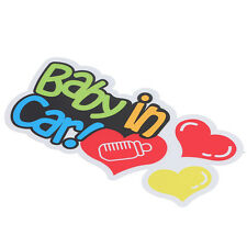 "Baby On Board - In Car Bebe - Window Bumper Locker Sticker ""Baby In Car"" Decal"