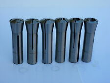 """6pcs/set  R8 Round Collets, 1/8"""" - 3/4"""" by 1/8"""",  Brand New."""