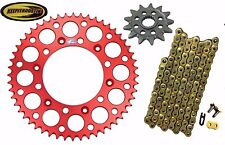 Front and Rear Red Sprocket 13 51 Gold Chain Fits Honda Crf250 2011-2016 Crf250r