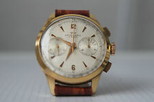 Vintage Chronograph PRYNGEPS Gold Plated Mechanical SWISS CHRONO Cal. Valjoux 92