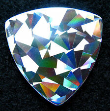6 Holographic Silver Cubism Bass Guitar Pick (Variation #5)