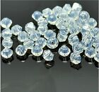 100pcs Opal Crystal 4mm #5301 Bicone Beads loose beads