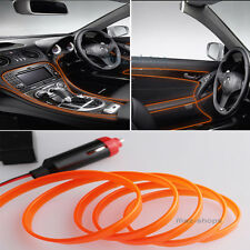 2M 12V EL Wire Nice Orange Cold light Neon Lamp Atmosphere Unique Decor For Ford