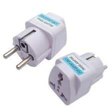 REISE UK US AU to EU European Power ADAPTER STROMADAPTER EURO POWERSTECKER Neu