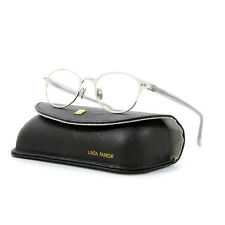 Linda Farrow Luxe 110 Eyeglasses C2 Silver & Transparent Grey Frame / RX Clear