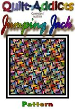 """NEW """"JUMPING JACK"""" Patchwork Quilt Pattern"""
