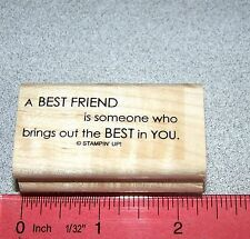 Stampin Up Full of Life Stamp Single Best Friend is someone brings... Friendship