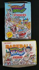 1980s Leaf Greatest Gross Outs And Baseball Stars Wax Pack Box Lot