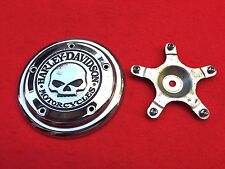 GENUINE HARLEY WILLIE G SKULL AIR CLEANER TRIM COVER INSERT DYNA SOFTAIL SCRATCH