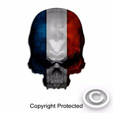 """2 France Flag Skull Decal Vintage French Sticker Paris Graphic 4"""" size"""